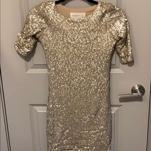 Abercrombie & Fitch Gold Sequins Dress
